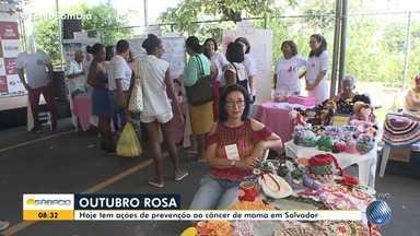 Mutirão de prevenção ao câncer de mama acontece neste sábado (5), na Barra - A ação faz parte da campanha 'Outubro Rosa'.