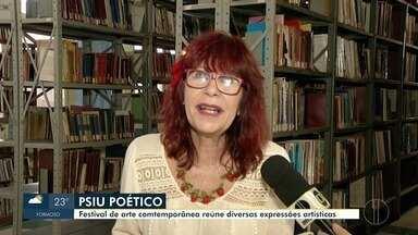 Psiu Poético reúne diversas expressões artísticas - Evento começou nessa sexta-feira.