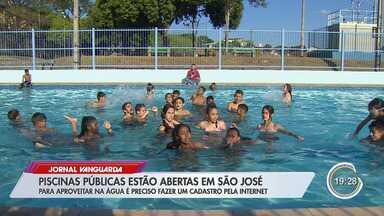 Dez piscinas públicas de São José abrem a partir deste sábado - Para participar, o morador deve fazer a inscrição preliminar pelo aplicativo São José Viva, disponível nos smartphones.