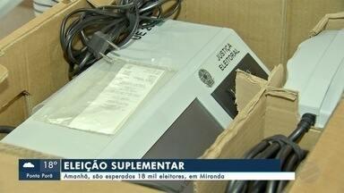 Eleitores de Miranda escolhem novo prefeito e vice do município - Nova eleição foi convocada para este domingo (6) após Justiça cassar mandatos