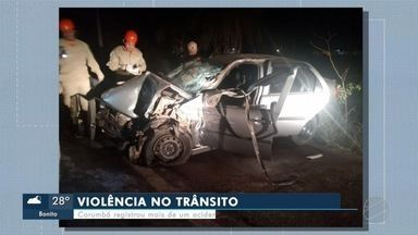 Motorista morre após acidente na BR-262, em Corumbá - Vítima dirigia carro e se envolveu em colisão com caminhão
