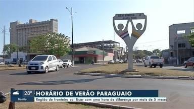 Horário de verão no Paraguai começa neste domingo (6) - Mudança complica rotina de quem vive na região de fronteira