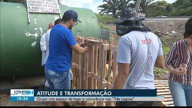 """Grupo cria espaço de lazer e convivência nas """"Três Lagoas"""" - Atitude e transformação."""
