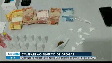 Combate ao tráfico de drogas em Campina Grande - Operação foi realizada pela Polícia Civil em casas de shows e boates.