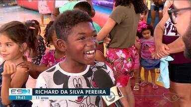 Linhares, ES, tem comemoração antecipada de Dia das Crianças - Evento aconteceu no interior.