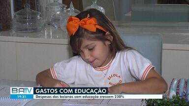 Gastos com educação crescem mais de 200% na Bahia, segundo IBGE - Segundo o instituto, as famílias estão dando prioridade para esse tipo de despesa.