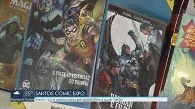 Santos Comic Expo 2019 reúne apaixonados por quadrinhos e super heróis - Evento começou neste sábado (5), às 11 horas, e se estende até domingo (6), com inúmeras atividades e atrações do mundo geek.