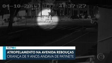 SP2 - Edição de sábado, 5/10/2019 - É estável o estado de saúde do menino de nove anos que foi atropelado por uma ambulância quando andava de patinete na Avenida Rebouças. Câmeras de segurança registraram o momento em que a criança foi atingida pelo veículo. E mais as notícias do dia.