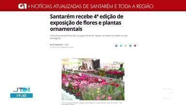 Exposição de plantas e flores ornamentais é destaque no G1 Santarém e Região - Confira essa e outras notícias regionais.