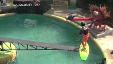 Olimpíadas do Faustão apresenta 'Surfe de Lagoa' - Domingão relembra mais uma modalidade do quadro clássico