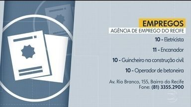 Confira vagas disponíveis na Agência de Emprego do Recife - Há oportunidades para eletricista, encanador, entre outras.