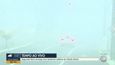 Santa Maria amanhece com bastante neblina nesta segunda-feira (7) - Confira alguns cuidados que se deve ter no trânsito.