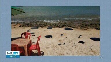 Manchas de óleo atingem Coruripe - Litoral Sul de Alagoas foi afetado pelo óleo no fim de semana.