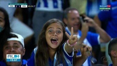 Crianças marcam presença na vitória do CSA sobre o Avaí - Os pequenos foram apoiar o Azulão no Rei Pelé.