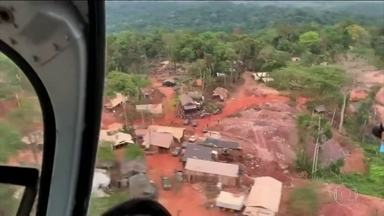Operação da PF e do Ibama recupera área invadida por garimpeiros no Mato Grosso - Segundo a PF, um dos garimpeiros armados reagiu à ação e morreu baleado.