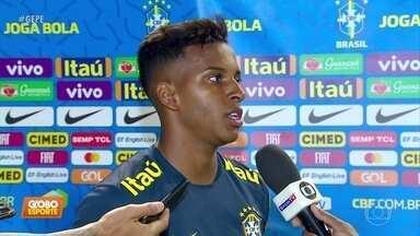 Na Seleção Sub-23, Rodrygo é o mais assediado por torcedores nos Aflitos - Time nacional joga no Recife na quinta e na próxima segunda-feira