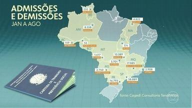 Mais da metade das capitais brasileiras já registra retomada no emprego formal - Um levantamento da consultoria Tendências, feito a pedido do jornal O Globo, mostra que, nos 8 primeiros meses do ano, o saldo foi positivo em 14 capitais.