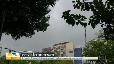 Previsão é de chuva para o Rio de Janeiro nesta quarta-feira (9) - O dia deve ser de céu nublado com possibilidade de chuva a qualquer momento. Em alguns períodos do dia, chove forte. A temperatura máxima prevista é de 24ºC.