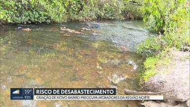 Moradores da região norte do DF sofrem com o risco de desabastecimento de água - O nível da bacia do Pipiripau, que abastece a região, está muito baixo. Além do risco do desabastecimento, os moradores estão preocupados com a criação de um novo bairro na área.
