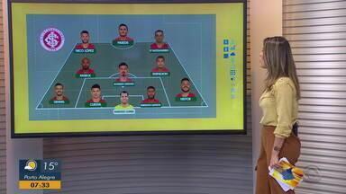 Confira a provável escalação do Inter para a partida contra o CSA - Assista ao vídeo.