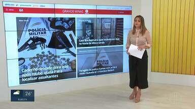 Confira os destaques do G1 nesta quarta-feira (09) - Caderno deixado para trás após roubo ajuda PM a localizar assaltantes em Mato Verde.