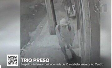 Trio é preso suspeito de arrombar mais de 10 lojas do Centro de Teresina - Trio é preso suspeito de arrombar mais de 10 lojas do Centro de Teresina