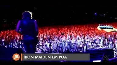 Iron Maiden faz show em Porto Alegre nesta quarta-feira (9) - Fãs esperam na fila, em frente à Arena do Grêmio, desde as 5h.