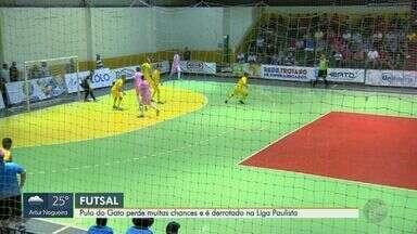 Em jogo de chances perdidas, Pulo do Gato perde para o Dracena na Liga Paulista de Futsal - Clube foi derrotado por 2 a 0 após perder muitas chances de gol.