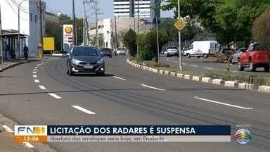 Prefeitura suspende licitação para radares de trânsito em Presidente Prudente - Abertura das propostas estava marcada para esta quarta-feira (9).