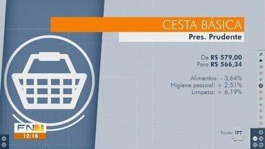 Pesquisa de preços constata deflação em supermercados em Presidente Prudente - Levantamento foi realizado em seis estabelecimentos comerciais.