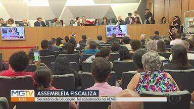 Educação é tema de novo ciclo do Assembleia Fiscaliza - Secretária de Educação, Julia Sant'Anna foi sabatinada na ALMG.