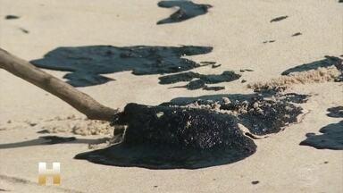 Prefeituras do RN alegam não ter equipes para fazer limpeza nem lugar para descartar óleo - O Rio Grande do Norte é o estado com o maior número de locais atingidos pelas manchas de óleo. São 43 pontos diferentes. Até agora, quatro tartarugas foram encontradas cobertas pelo petróleo. Duas morreram.