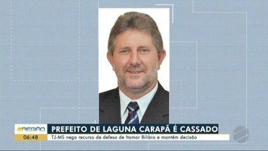 TJ-MS mantém perda de mandato do prefeito de Laguna Carapã - A decisão dos desembargadores acompanha a primeira, em caráter liminar.