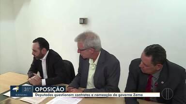 Deputados pedem investigação do MPMG em contratos do governo Zema - Deputados da oposição questionam contratos e nomeação do governador Romeu Zema.
