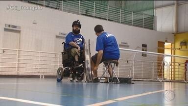 Pai e filho de Uberlândia são campeões na bocha paralímpica - Um é jogador, o outro calheiro e entrosamento pode levá-los às Paralimpíadas de Tóquio