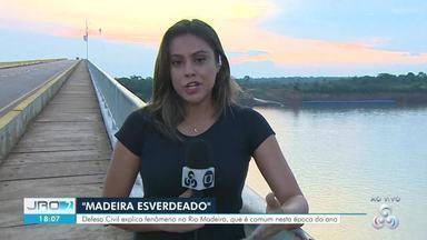 """Rio Madeira """"esverdeado"""" - Defesa Civil explica fenômeno no maior afluente do Amazonas."""