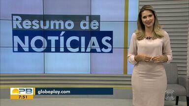 Confira o Resumo das Notícias do Bom Dia Paraíba desta quarta-feira, 9 - Veja as principais notícias de hoje.