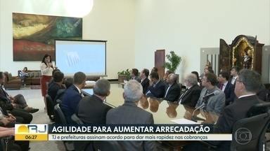 TJ e prefeituras assinam acordo para acelerar arrecadação - Objetivo é dar mais agilidade às cobranças.