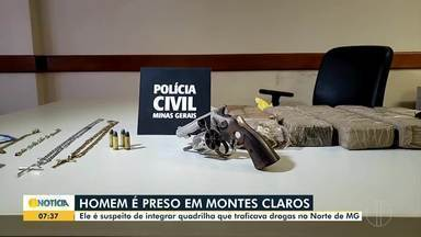 PC prende suspeito de integrar quadrilha de tráfico de drogas no Norte de MG - O jovem de 21 anos, estaria entregando drogas em cidades do Norte de Minas Gerais. O suspeito foi preso com 5 quilos de maconha.