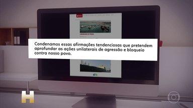 Governo da Venezuela nega qualquer responsabilidade pelo desastre ambiental - A nota foi publicada no fim da manhã desta quinta-feira (10). A companhia de petróleo da Venezuela, a PDVSA, rechaçou categoricamente as declarações do ministro do Meio Ambiente, Ricardo Salles, que disse que o país era responsável pela contaminação de petróleo nas praias do Nordeste.
