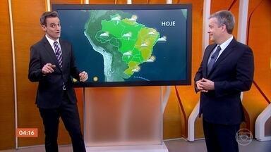 Calor predomina em boa parte do país nesta sexta-feira - Só no Recife e em Curitiba, de todas as capitais, vão ficar abaixo dos 30 de máxima nesta sexta-feira.