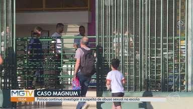 Pais de alunos do Colégio Magnum fazem ato de apoio à escola em BH - Mais nove pessoas devem ser ouvidas pela Polícia Civil, nesta sexta-feira (11).