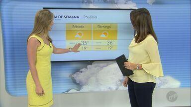 Confira a previsão do tempo para a região de Campinas nesta sexta-feira (11) - Sol forte volta a brilhar nesta sexta-feira (11) nas cidades da região.