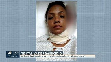 Polícia Civil pede à Justiça a prisão de homem deu 8 facadas na ex-mulher - A mulher foi esfaqueada porque o ex- não aceitava o fim do relacionamento.