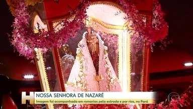 Belém celebra Nossa Senhora de Nazaré - Romarias marcam os festejos e, neste sábado, passaram por uma rodovia federal e pelos rios do Pará