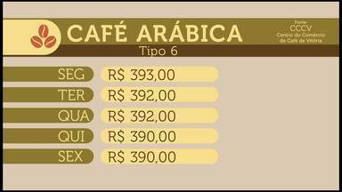 Veja a cotação do café no Espírito Santo - Preços da saca estão baixos.