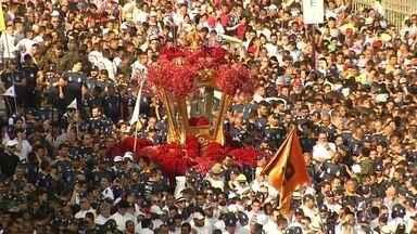 No Norte do Brasil, grande romaria marca tradicional homenagem à padroeira dos paraenses - As celebrações começaram na Catedral Metropolitana de Belém. Durante mais de quatro horas, a multidão conduziu a imagem de Nossa Senhora de Nazaré.