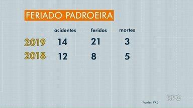 Três pessoas morreram em estradas estaduais da região de Londrina - Outras 21 pessoas ficaram feridas durante Operação Padroeira. Na PR-445, um jovem de 20 anos morreu depois de bater o carro perto do distrito da Warta.