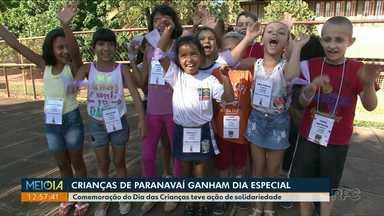 Comemoração do Dia das Crianças teve ação de solidariedade em Paranavaí - Universitários se mobilizaram para arrecadar brinquedos e alimentos para 330 crianças.