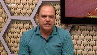 Waguinho Dias, do América-RN, é entrevistado pelo Globo Esporte RN - Waguinho Dias, do América-RN, é entrevistado pelo Globo Esporte RN